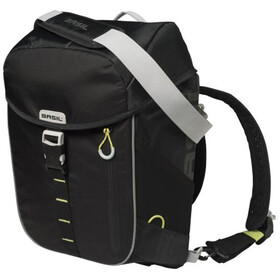 Basil Miles Daypack Luggage Carrier Bag 14L, black lime